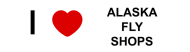 Bumper Sticker - I Love Alaska Fly Shops