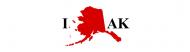 Bumper Sticker - I Love Alaska I Love Ak State