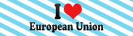Bumper Sticker - I Love European Union