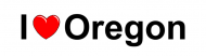Bumper Sticker - I Love Heart Oregon