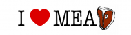 Bumper Sticker - I Love Meat