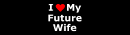 Bumper Sticker - I Love My Future Wife Funny Comments Expressions