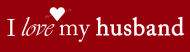 Bumper Sticker - I Love My Husband Bumper Sticker No Stripe