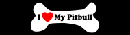 Bumper Sticker - I Love My Pitbull Dog Bone