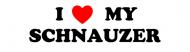 Bumper Sticker - I Love My Schnauzer