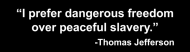 Bumper Sticker - I Prefer Dangerous Freedom Over Peaceful Slave