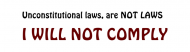 Bumper Sticker - I Will Not Comply