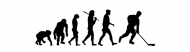 Bumper Sticker - Ice Hockey Hockey Players Evolution