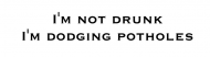 Bumper Sticker - Im Not Drunk Im Dodging Potholes