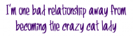 Bumper Sticker - Im One Bad Relationship Away From
