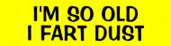 Bumper Sticker - Im So Old I Fart Dust