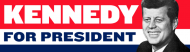 Bumper Sticker - John F Kennedy For President 1960 Vintage