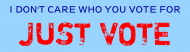 Bumper Sticker - Just Vote