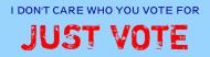 Bumper Sticker - Just Vote