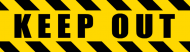 Bumper Sticker - Keep Out Police Hazard Tape Black Yellow Stripes