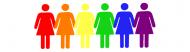 Bumper Sticker - Lesbian Rainbow Women Gay Pride Holding Hands