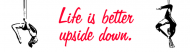 Bumper Sticker - Life Is Better Upside Down