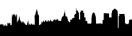 Bumper Sticker - London Skyline Silhouette Cityscape