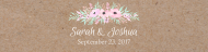 Wedding Custom Label Bottled Water - Pinkish Blooms Kraft Paper