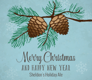 Holiday Beer Label - Winter Pine