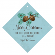 Holiday Wine Hang Tag - Winter Pine