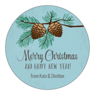 Holiday Label - Winter Pine