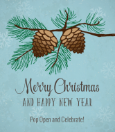 Holiday Champagne Label - Winter Pine