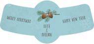 Bottle Neck Label - Winter Pine
