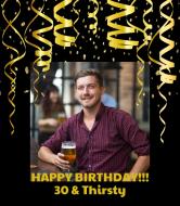 Birthday Wine Label - Birthday Surprise