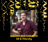 Birthday Beer Label - Birthday Surprise