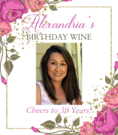 Birthday Wine Label - Garden Party