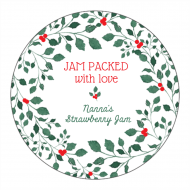 Holiday Canning Label - Christmas Jam
