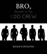 Wedding Wine Label - Groom's I Do Crew