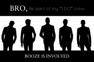 Wedding Mini Liquor Label - Groom's I Do Crew