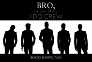 Wedding Growler Label - Groom's I Do Crew