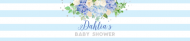 Baby Water Bottle Label - Baby Boy Blue