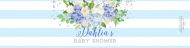 Baby Custom Label Bottled Water - Baby Boy Blue