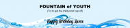 Birthday Water Bottle Label - Fountain of Youth