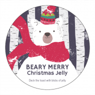 Holiday Canning Label - Beary Merry Christmas