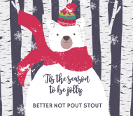 Holiday Beer Label - Beary Merry Christmas