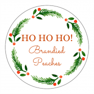 Holiday Canning Label - Holly Circle