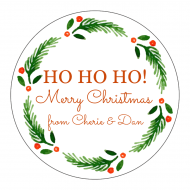 Holiday Sticker - Holly Circle