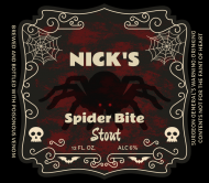 Holiday Beer Label - Spider Bite