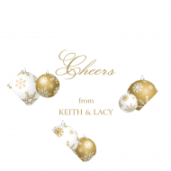 Holiday Wine Hang Tag - Gold Ornaments