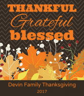 Holiday Wine Label - Thankful, Grateful