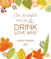Holiday Wine Label - Be Grateful
