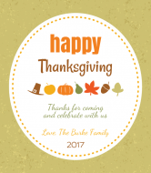 Holiday Wine Label - Gratitude