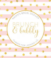 Wedding Wine Label - Brunch and Bubbly