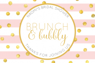 Wedding Mini Champagne Label - Brunch and Bubbly