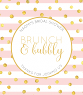Wedding Champagne Label - Brunch and Bubbly